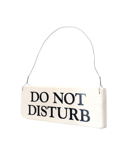 Do Not Disturb wood sign with saying