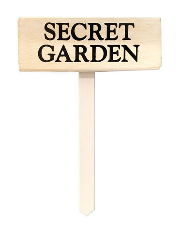Secret Garden wood sign with saying