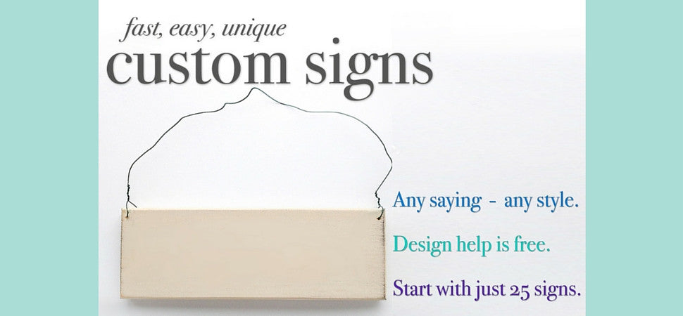 wholesale custom signs online