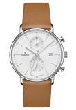 Junghans Form C - Quartz Chronograph Tan Band Lines