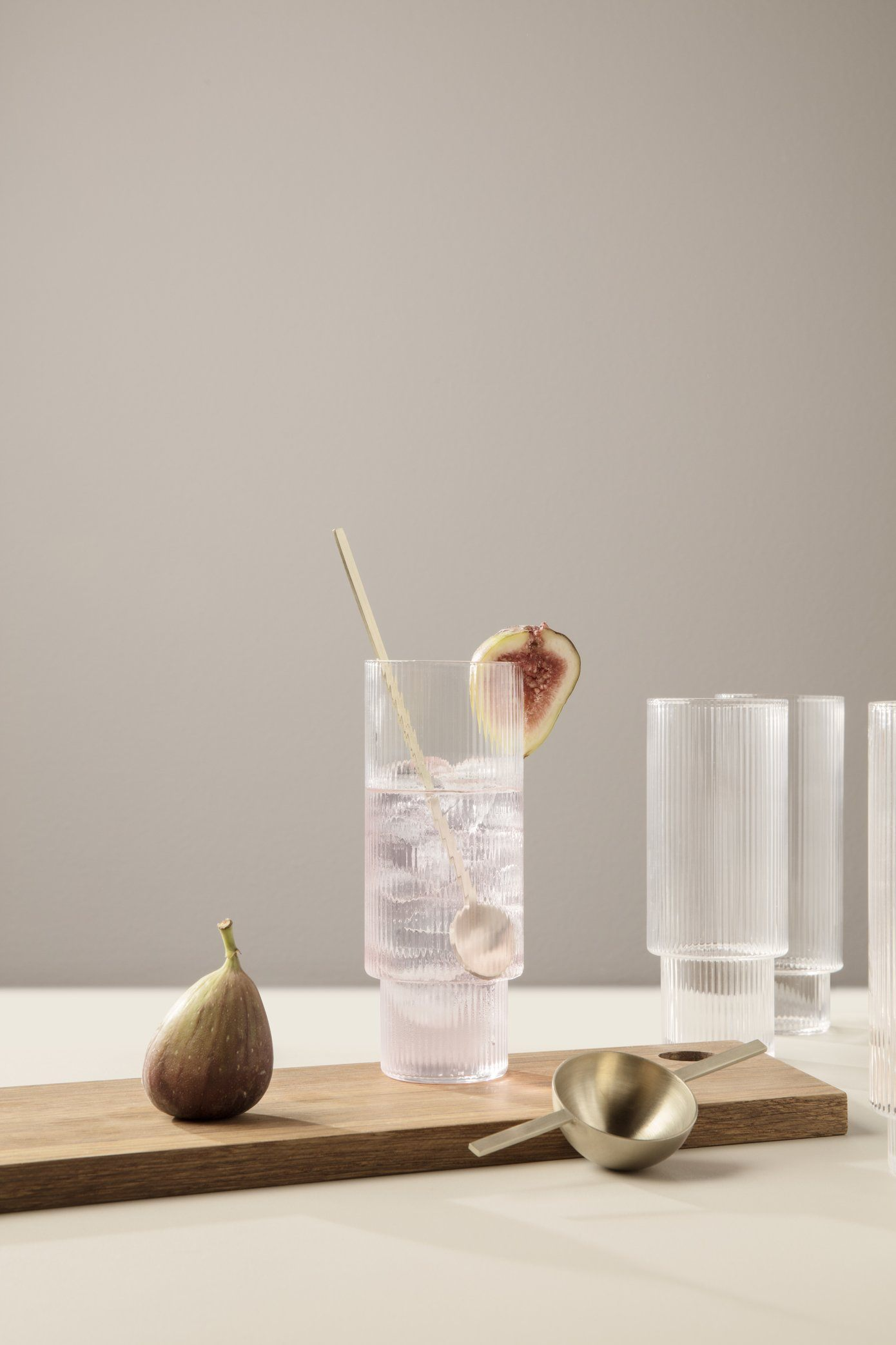 Ferm Living Ripple Glass Long Glass