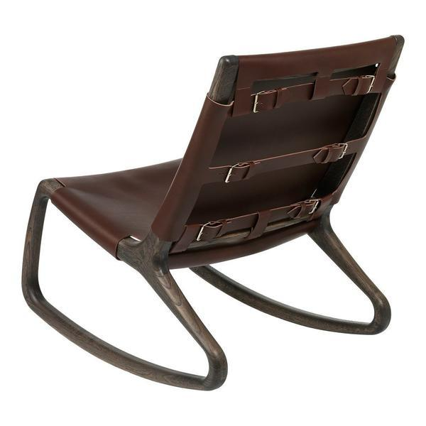 Mater Rocker Chair Whiskey Leather