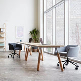 GUS Envoy Desk with Dowel Legs