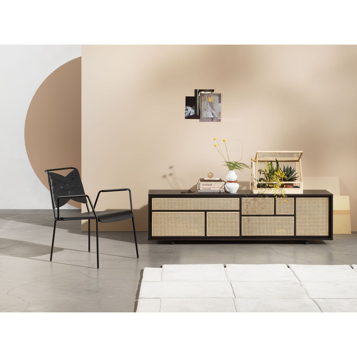 DESIGN HOUSE STOCKHOLM Air Sideboard Low Black