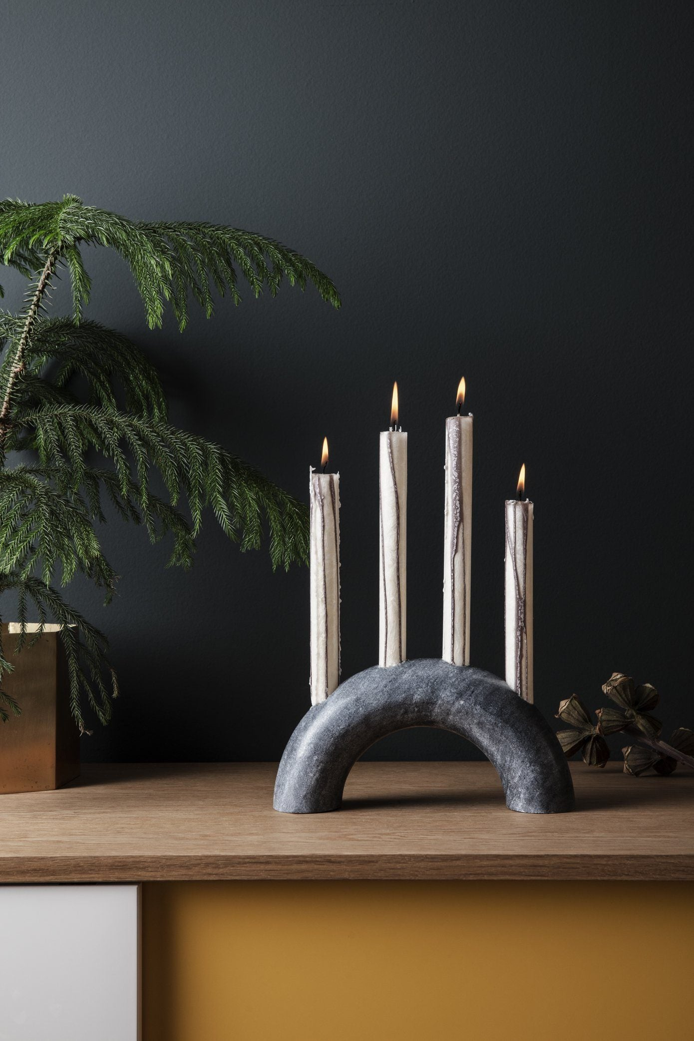 Ferm Living Bow Candle Holder Black