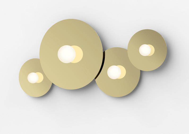 Pablo Bola Disc Wall/Ceiling Light Brass Medium
