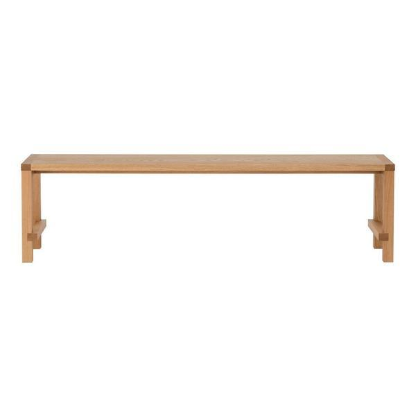 "Another Country Bench Four Natural Oak 54.72"" W x 13"" D x 17.7"" H"
