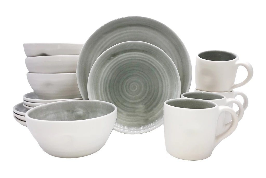 Canvas Home Pinch 16 Piece Place Setting Grey