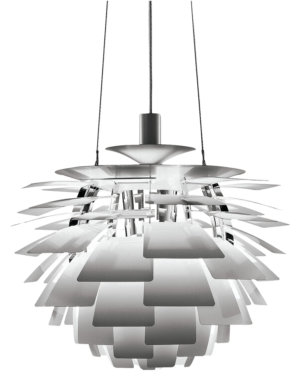Louis Poulsen PH Artichoke Pendant - Brushed Stainless Steel Small