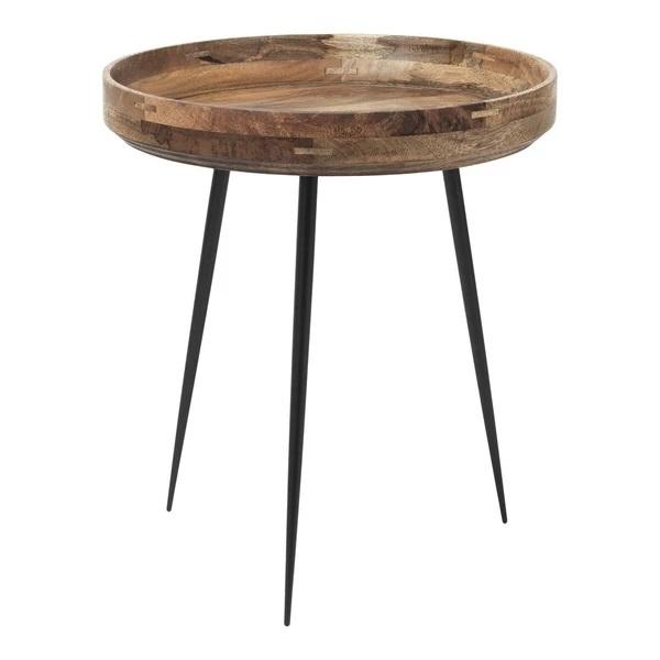 Mater Bowl Table Small Natural Lacquered