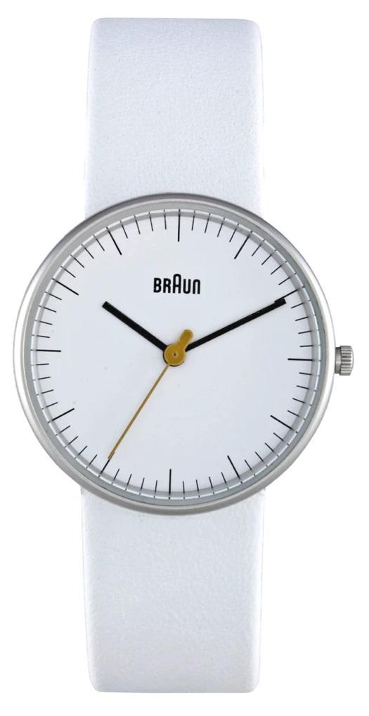 Braun BN-21WHWHL Ladies' White Dial, White Leather Band