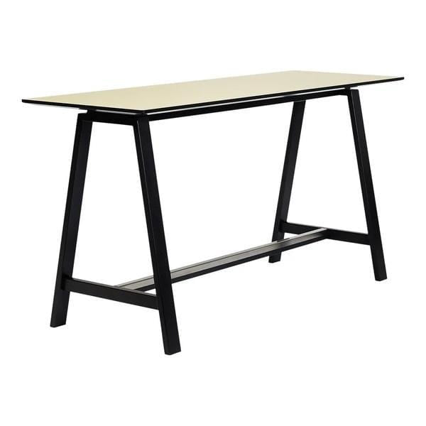 "ANDERSEN HT1 High Table - Counter Heigh White Laminate Black - Lacquer 59"" L x 29.5"" W x 36.6"" H"