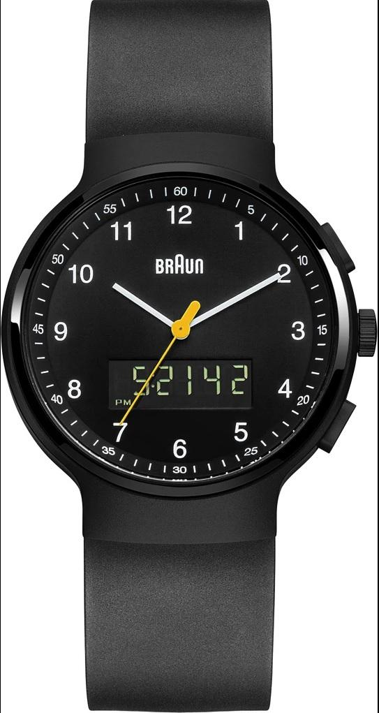 Braun BN-159BKBKG Men's Analog/Digital, Dual Time, Chronograph + Date