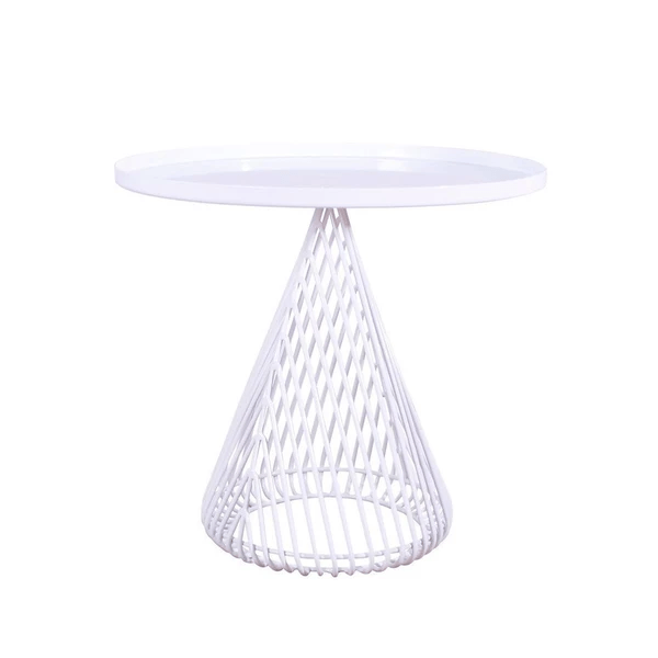 BEND The Cono Side Table White