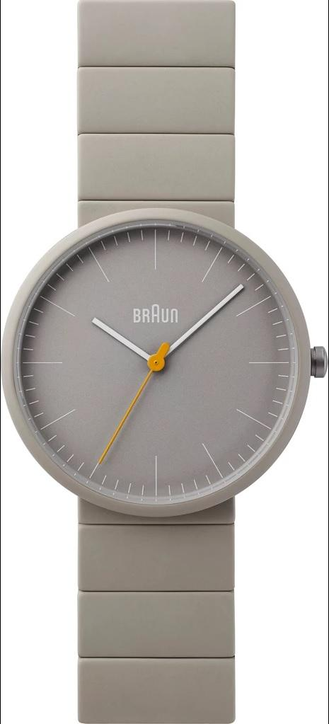 Braun BN-171GYGYG Men's Ceramic Analog Watch, Matte Grey
