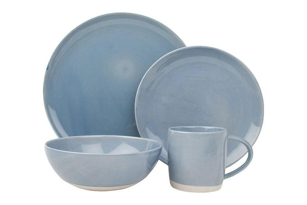 Canvas Home Shell Bisque 4 Piece Place Setting Blue
