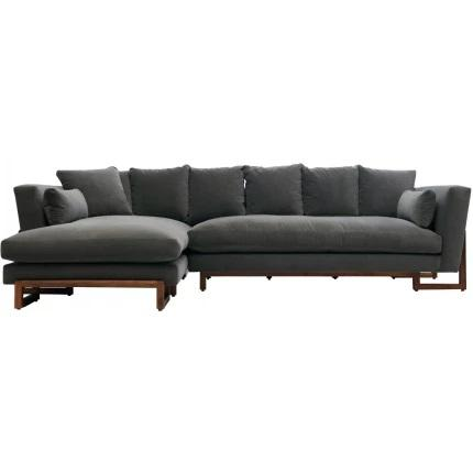 ARTLESS LRG Sectional Smoke Left Side Chaise