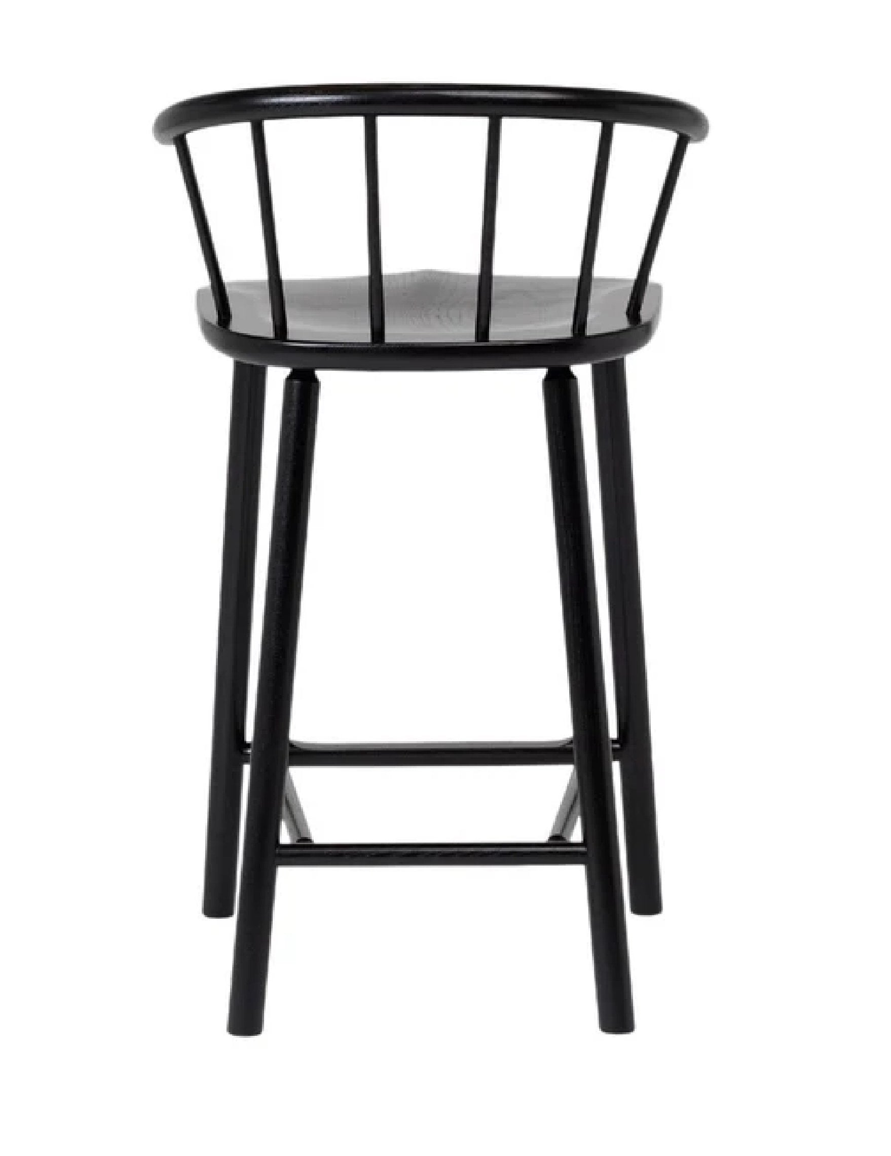 "Another Country Hardy Bar Stool - w/ Back Ash 19.4"" W x 18.4"" D x 35.2"" H 