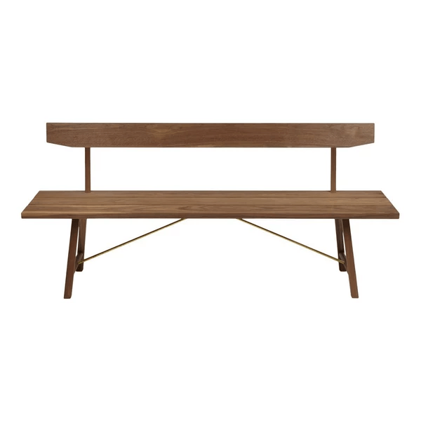 "Another Country Bench Two - w/ Back 63"" W x 19"" D x 31.50"" H 