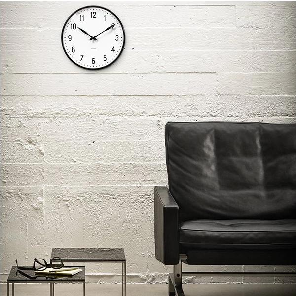 "Arne Jacobsen Station Wall Clock 18.9"" Ø"