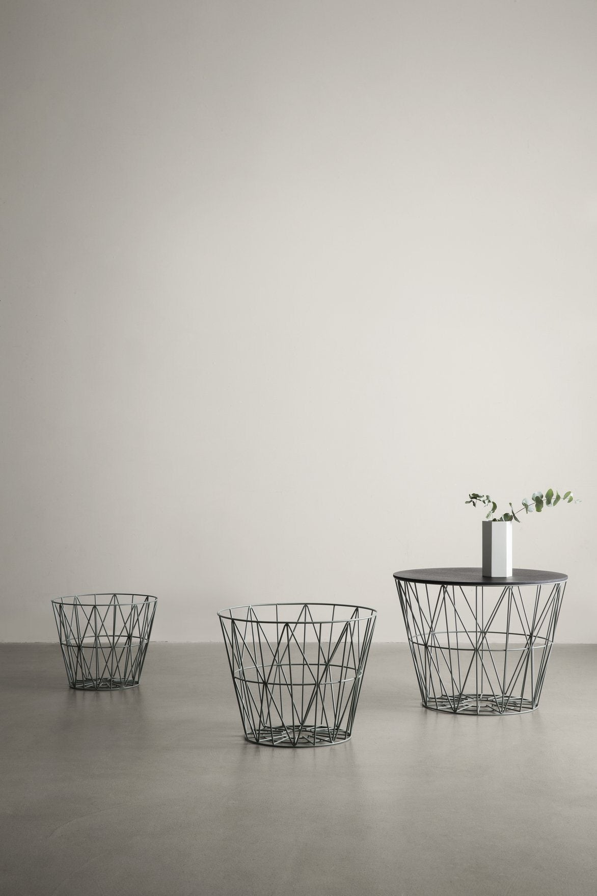 Ferm Living Wire Basket Top Smoked Oak Small