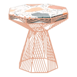 BEND Switch Table / Stool Peachy Pink Terrazzo Top