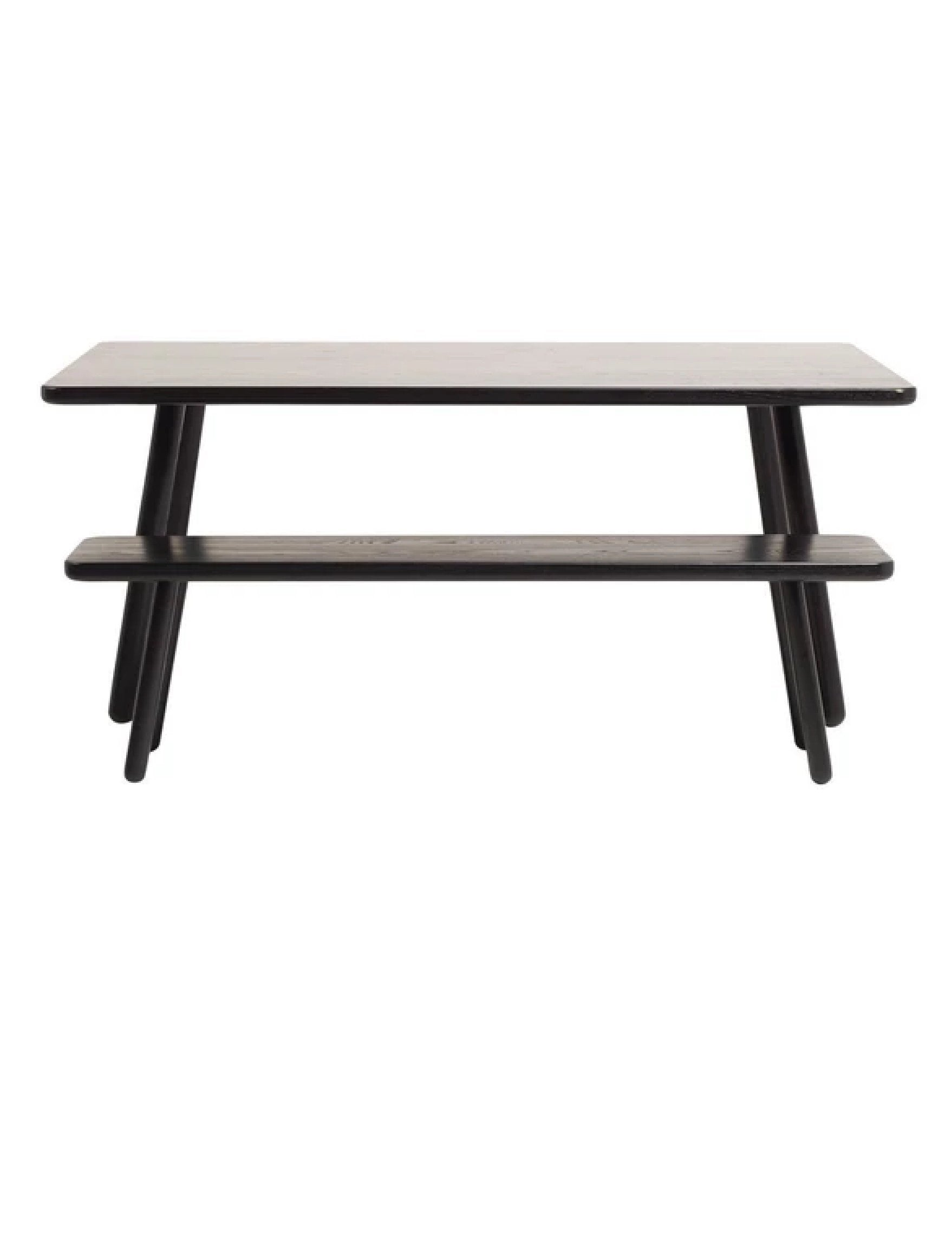 "Another Country Dining Table One Ash - Black Painted 63"" W x 31.5"" D x 29.13"" H"