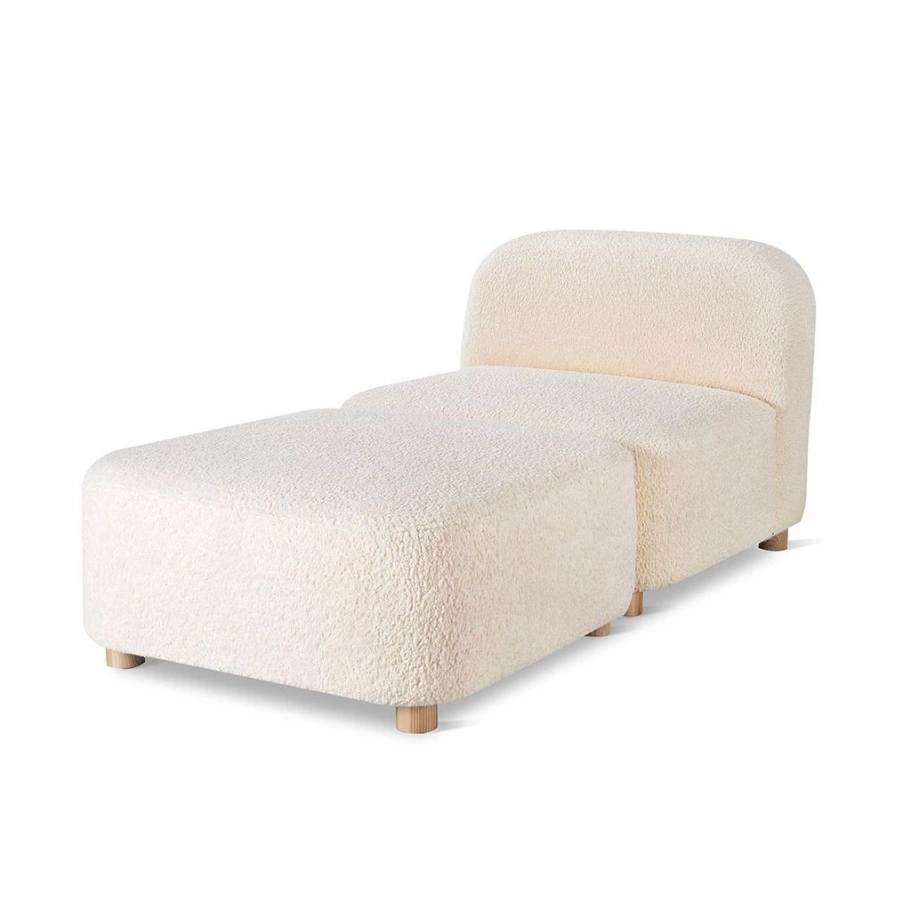 Gus Circuit Modular 2-pc Chaise Himalaya Cloud