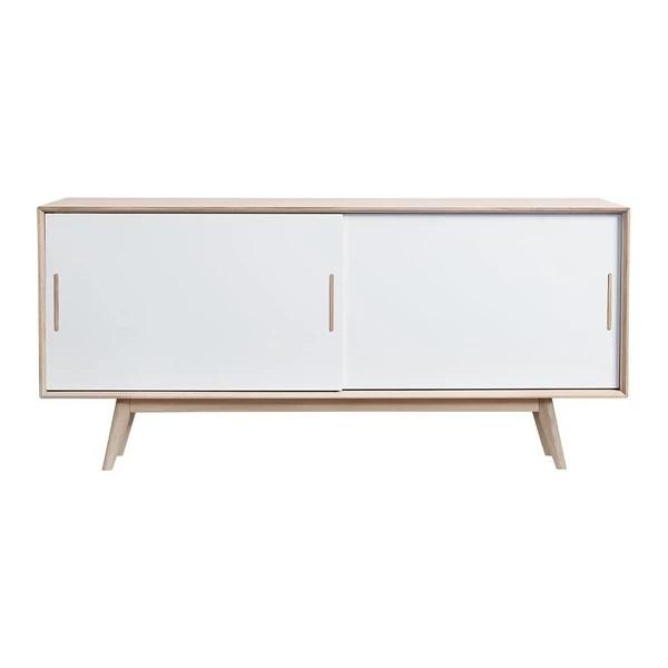 ANDERSEN S4 Sideboard White White Powder Coated Steel Oak - White Lacquer
