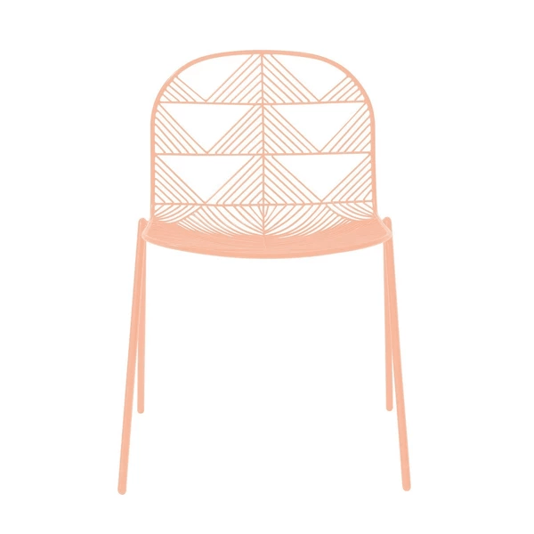 BEND Betty Stacking Chair White