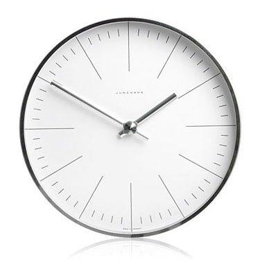 Junghans Max Bill - Wall Clock with Lines Ø 11.8""