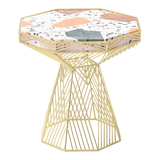 BEND Switch Table / Stool Gold Terrazzo Top