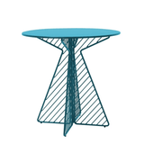 BEND The Cafe Table Electric Blue Round