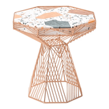 BEND Switch Table / Stool Copper Terrazzo Top