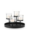 Blomus Nero Tealight Holder - Round Tray