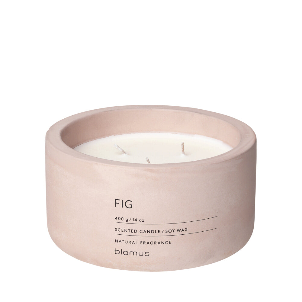 Blomus Fraga Scented Candle in Concrete - 3 Wick