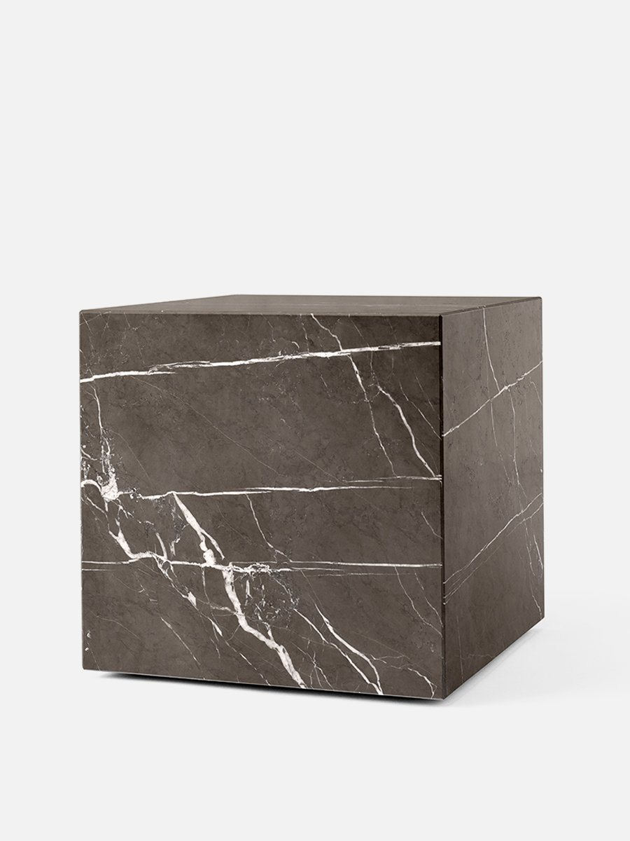 Menu Plinth Cubic White Carrara Marble