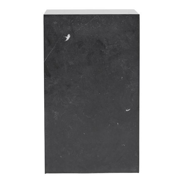 Menu Plinth Tall White Carrara Marble