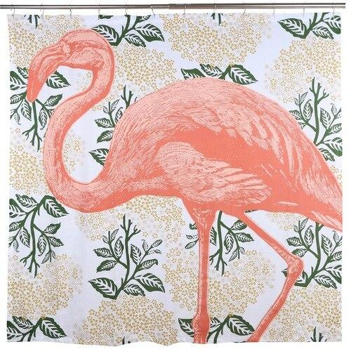 Thomas Paul Flamingo Bloomsbury Shower Curtain