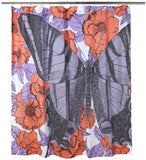 Thomas Paul Butterfly Floral Shower Curtain