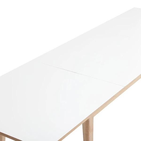 ANDERSEN T3 Extendable Table White Laminate Oak - Soap Matching Tabletop