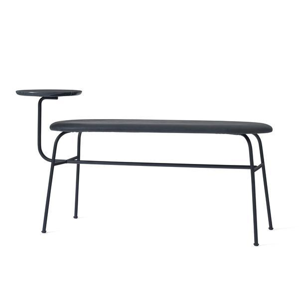 Menu Afteroom Bench Sorensen Dunes - Black Leather
