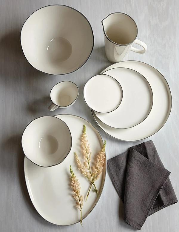 Canvas Home Abbesses Large Plate - Set of 4 Blue