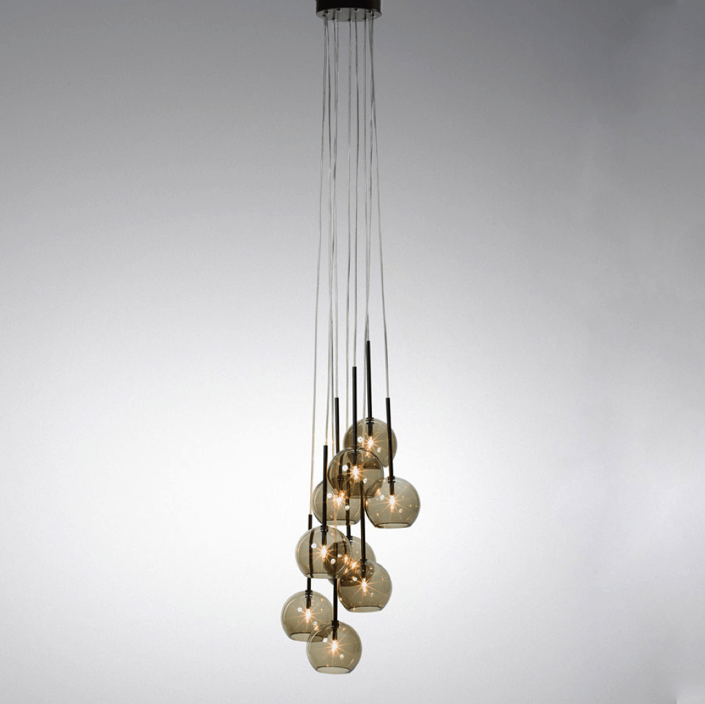 &Tradition Ice Chandelier SR6 Black Lustre