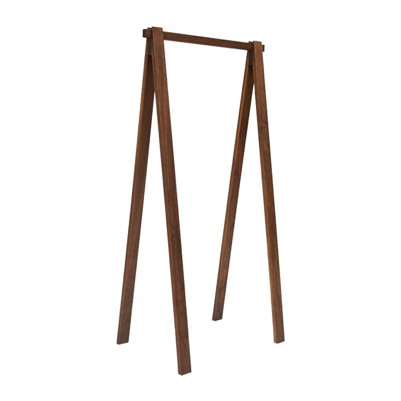 Area Bruno Clothes Rack Walnut Short