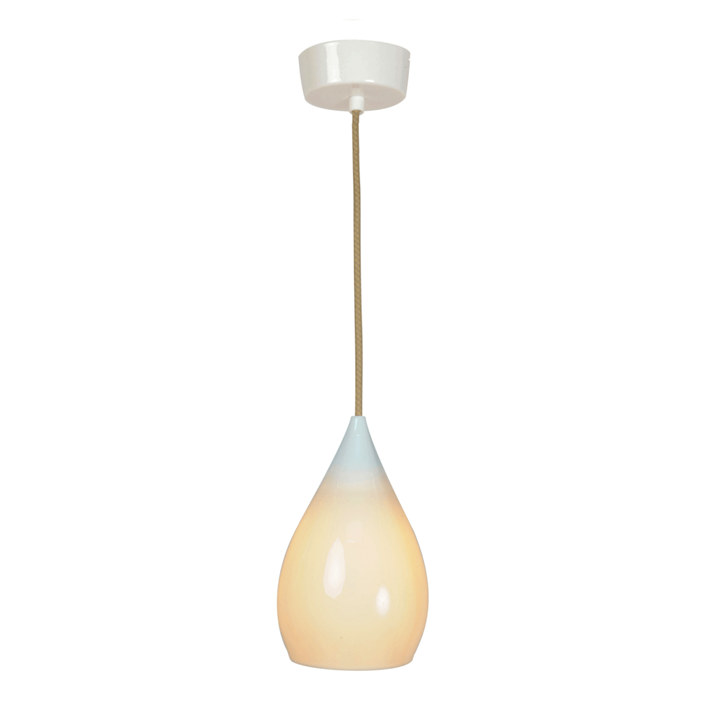 Original BTC Drop One Pendant Light White Gloss