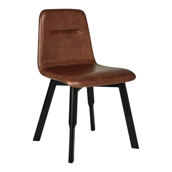 GUS Bracket Chair Saddle Brown Leather