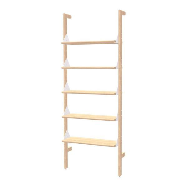 GUS Branch-1 Shelving Unit Upright Ash Black/Brackets Black/Self Ash Blonde