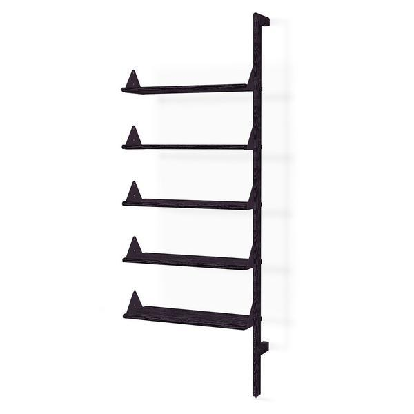 GUS Branch Shelving Add-on Upright Ash Black/Brackets Black/Self Ash Blonde