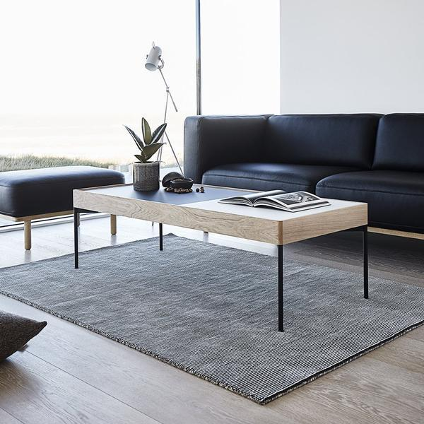 ANDERSEN C5 Coffee Table 2 Piece - Black/White Glass